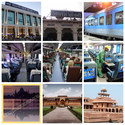 Tour Services- 1st Row: Train station and Train Exterior, 2nd Row: Seat Type, 3rd Row: Monuments