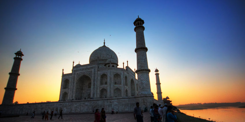 Taj Mahal of Agra - one of the seven wonder.