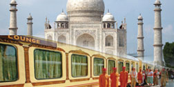 Taj Mahal by train
