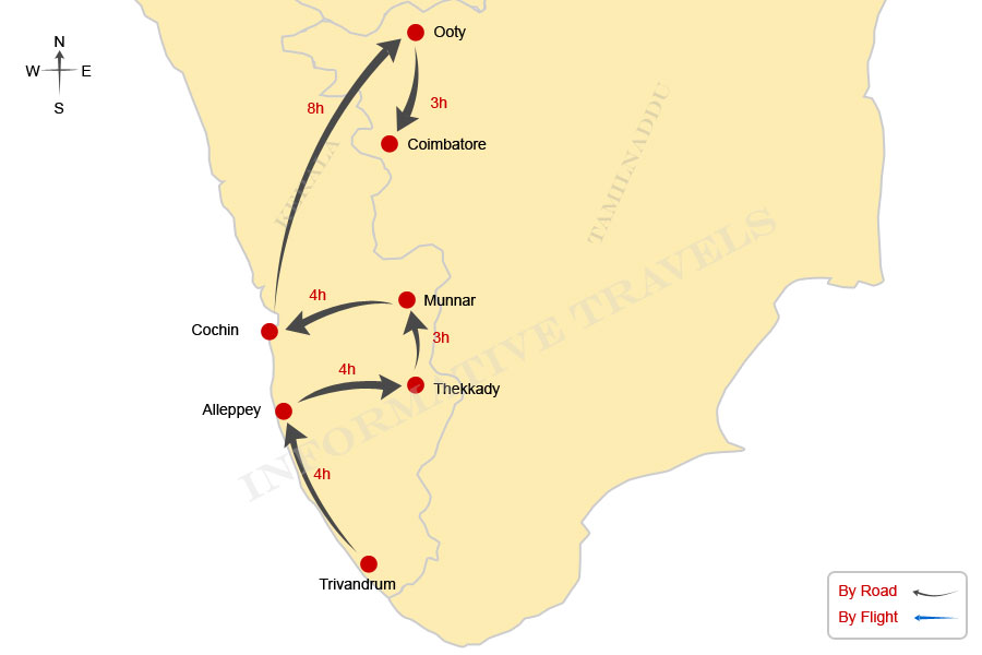 Ooty In India Map.Short Tours South India South India Travel Travel South India