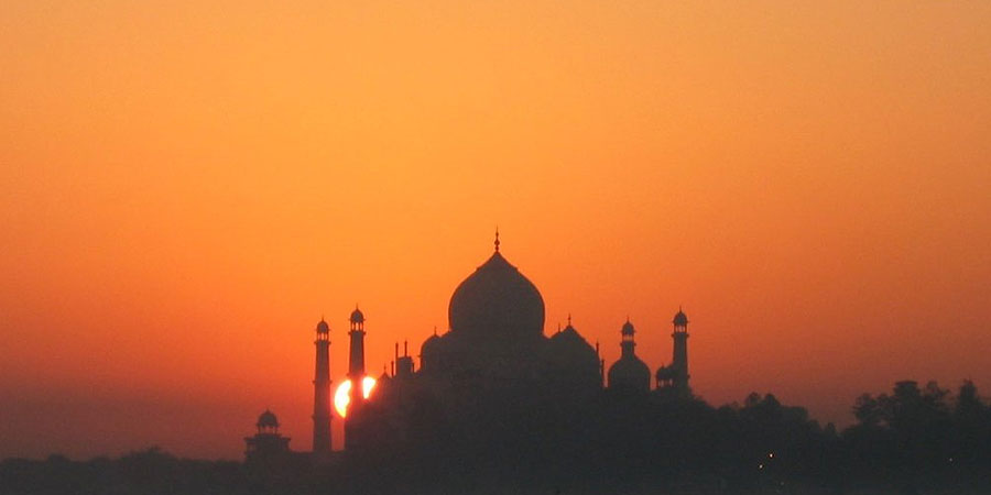 Sunrise View of Taj Mahal